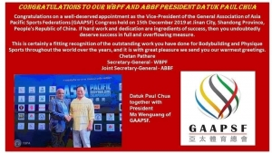 Datuk Paul Chua unanimously elected to be an Executive Vice President of the GAAPSF